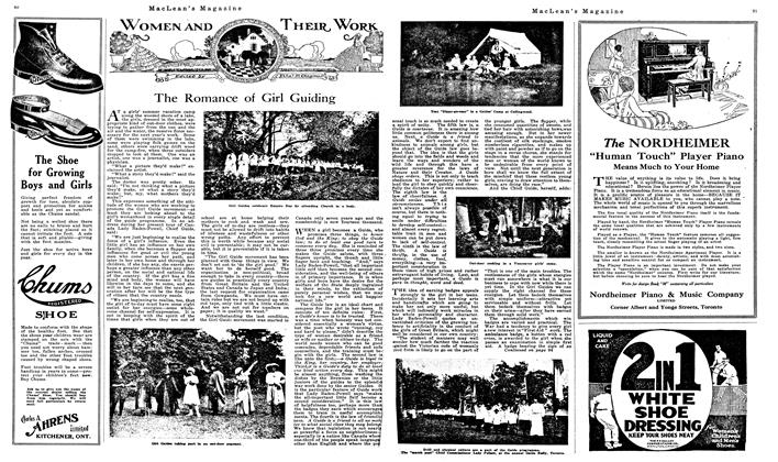 Article Preview: The Romance of Girl Guiding, July 1919 | Maclean's