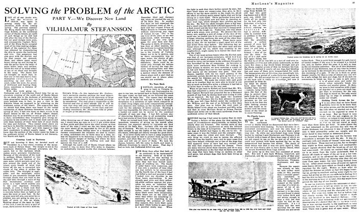 Article Preview: SOLVING the PROBLEM of the ARCTIC, August 1919 | Maclean's