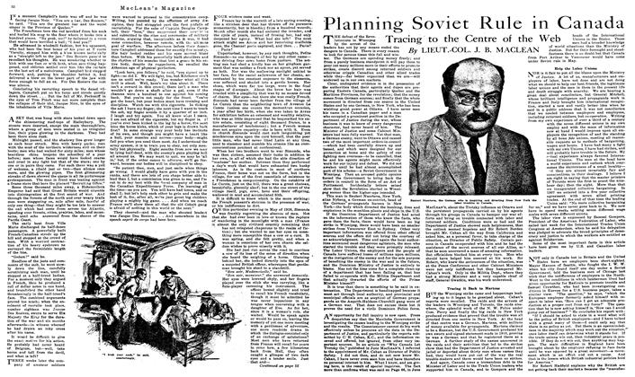Article Preview: Planning Soviet Rule in Canada, August 1919 | Maclean's