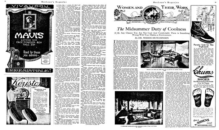 Article Preview: The Midsummer Duty of Coolness, August 1919   Maclean's