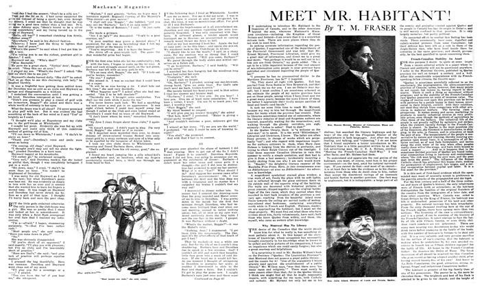 Article Preview: MEET MR. HABITANT!, September 1919 | Maclean's