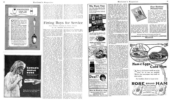 Article Preview: Fitting Boys for Service, September 1919 | Maclean's