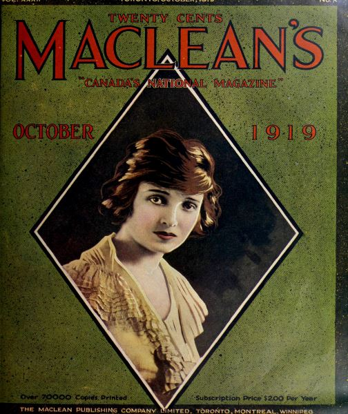 Issue: - October 1919 | Maclean's