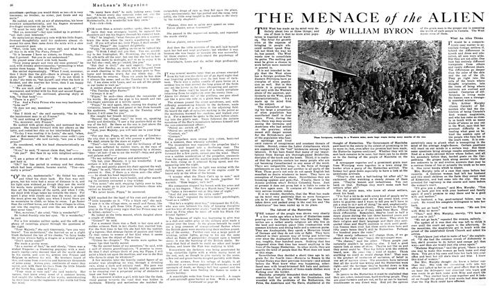 Article Preview: THE MENACE of the ALIEN, October 1919 | Maclean's