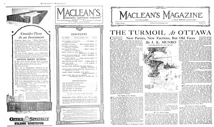 Article Preview: THE TURMOIL At OTTAWA, October 1919 | Maclean's