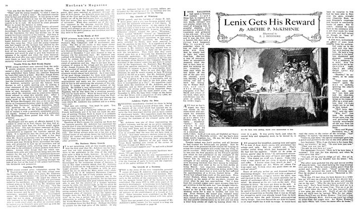 Article Preview: Lenix Gets His Reward, October 1919 | Maclean's