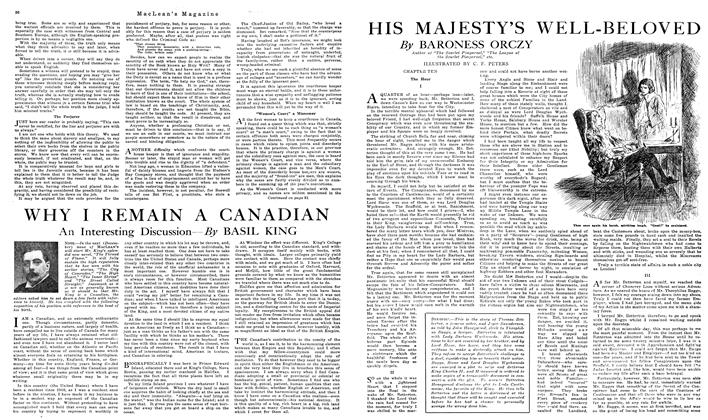 Article Preview: HIS MAJESTY'S WELL-BELOVED, NOVEMBER 01,1919 1919 | Maclean's