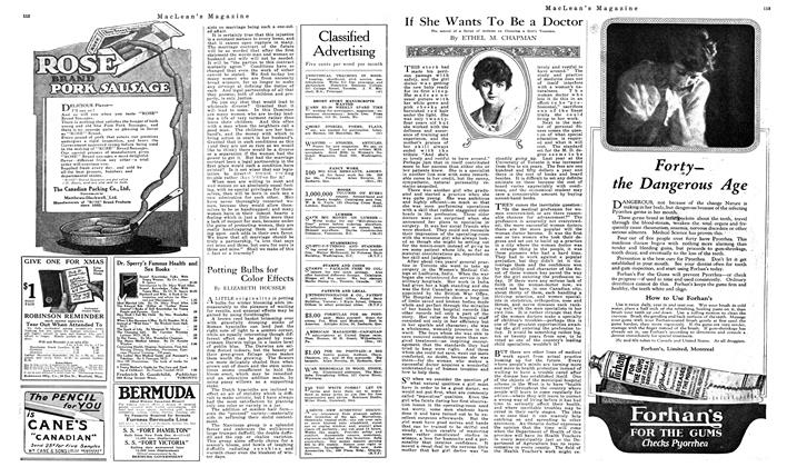 Article Preview: If She Wants To Be a Doctor, NOVEMBER 01,1919 1919 | Maclean's