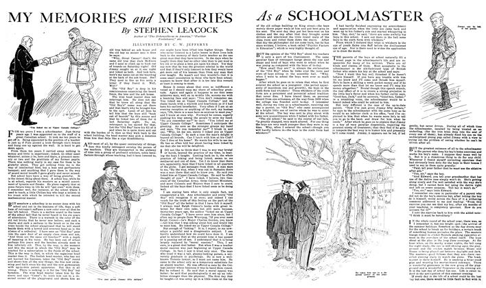 Article Preview: MY MEMORIES and MISERIES As a SCHOOLMASTER, NOVEMBER 01,1919 1919 | Maclean's