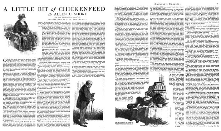 Article Preview: A LITTLE BIT of CHICKENFEED, NOVEMBER 01,1919 1919 | Maclean's
