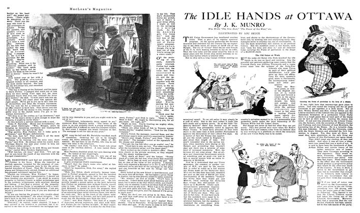 Article Preview: The IDLE HANDS OTTAWA, NOVEMBER 01,1919 1919 | Maclean's