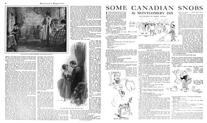 Article Preview: SOME CANADIAN SNOBS, December 1919 | Maclean's