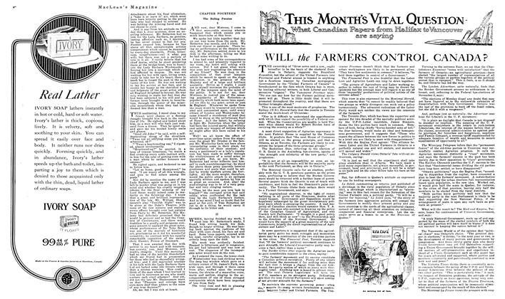 Article Preview: WILL the FARMERS CONTROL CANADA?, December 1919 | Maclean's