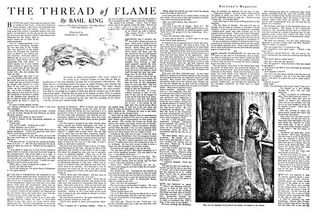 Article Preview: THE THREAD of FLAME, January 1920 | Maclean's