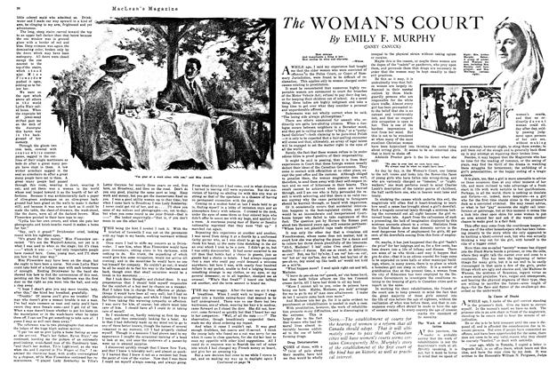 Article Preview: The WOMAN'S COURT, January 1920 | Maclean's
