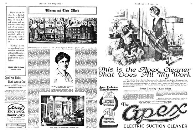 Article Preview: A Residence Club for Business Girls, January 1920 | Maclean's