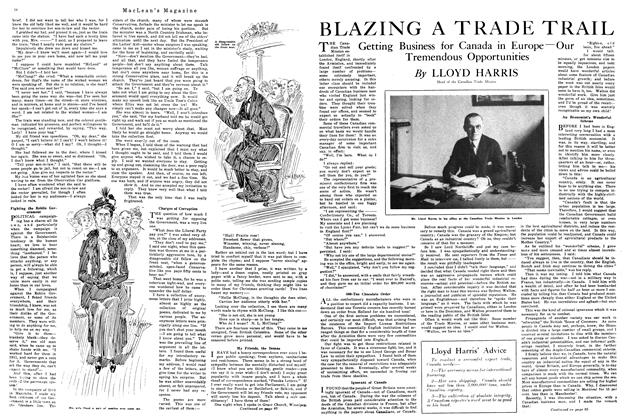 Article Preview: BLAZING A TRADE TRAIL, January 1920 | Maclean's