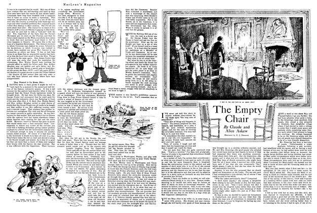 Article Preview: The Empty Chair, January 1920 | Maclean's