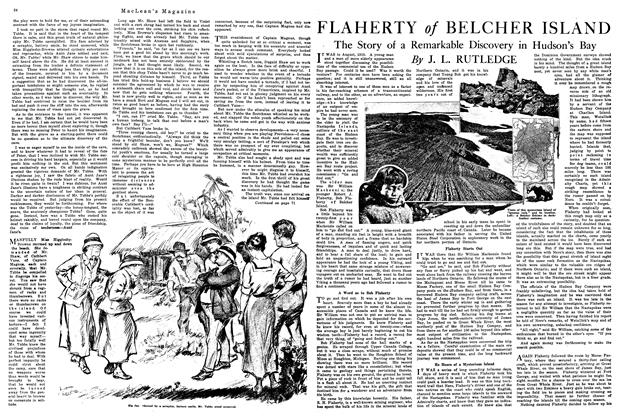 Article Preview: FLAHERTY of BELCHER ISLAND, February 1920 | Maclean's