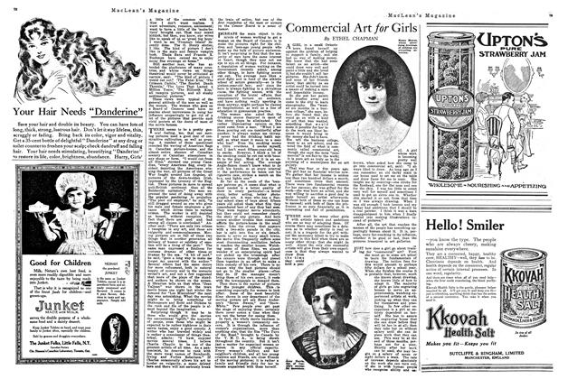 Article Preview: Commercial Art for Girls, February 1920   Maclean's