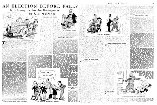 Article Preview: AN ELECTION BEFORE FALL?, February 1920 | Maclean's
