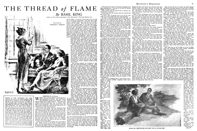 Article Preview: THE THREAD of FLAME, February 1920 | Maclean's