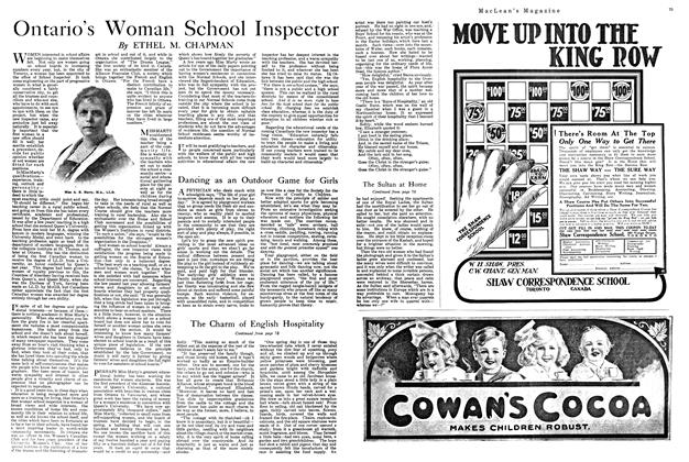 Article Preview: Ontario's Woman School Inspector, FEBRUARY 15TH 1920 1920 | Maclean's