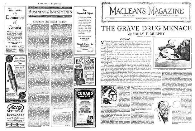 Article Preview: THE GRAVE DRUG MENACE, FEBRUARY 15TH 1920 1920 | Maclean's