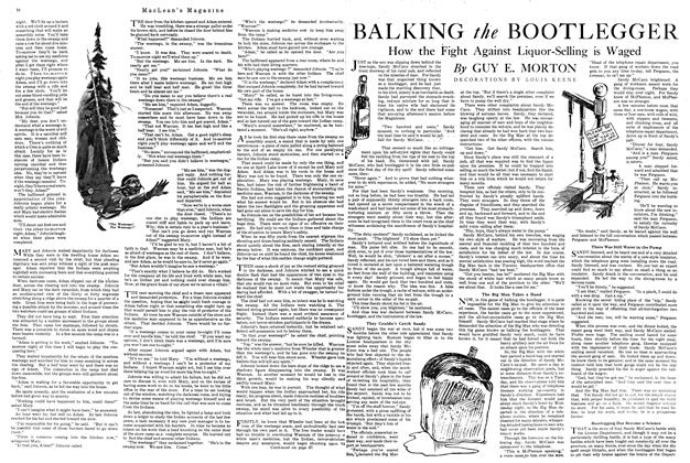 Article Preview: BALKING the BOOTLEGGER, MARCH 1ST 1920 1920 | Maclean's