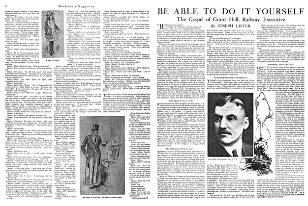Article Preview: BE ABLE TO DO IT YOURSELF, MARCH 1ST 1920 1920 | Maclean's