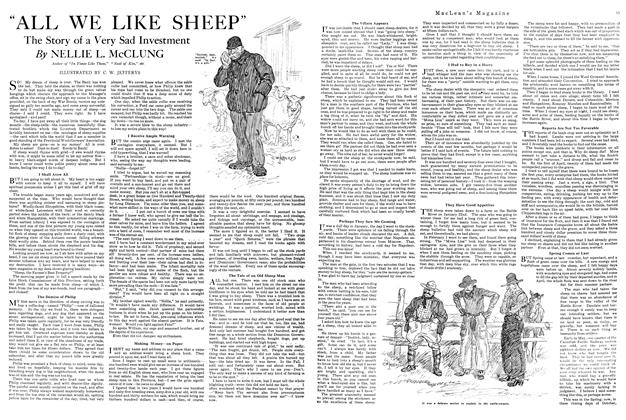"Article Preview: ""ALL WE LIKE SHEEP"", MARCH 1ST 1920 1920 