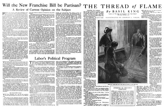 Article Preview: THE THREAD of FLAME, March 1920 | Maclean's