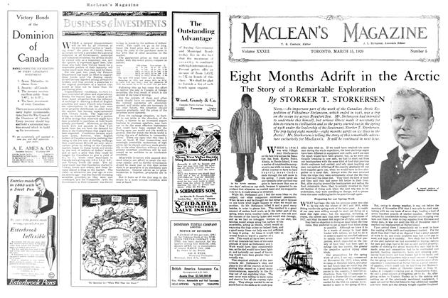 Article Preview: Eight Months Adrift in the Arctic, March 1920 | Maclean's