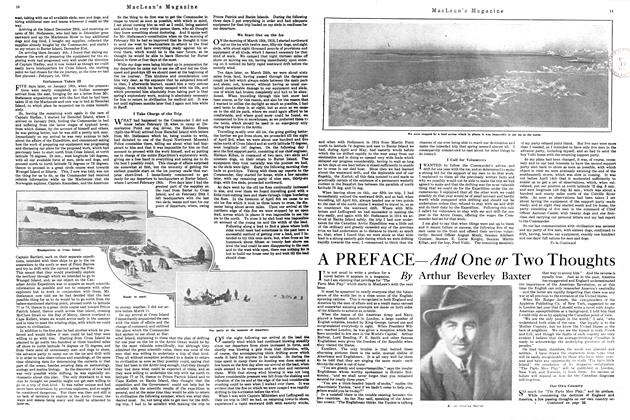 Article Preview: A PREFACE-And One or Two Thoughts, March 1920 | Maclean's