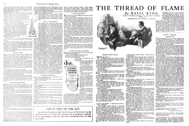 Article Preview: THE THREAD OF FLAME, APRIL 1st, 1920 1920 | Maclean's