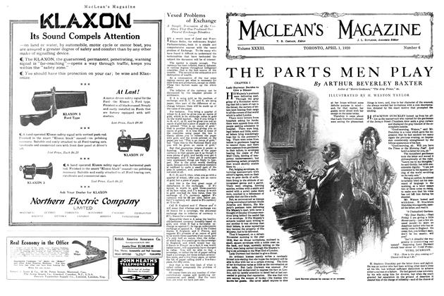 Article Preview: THE PARTS MEN PLAY, APRIL 1st, 1920 1920 | Maclean's