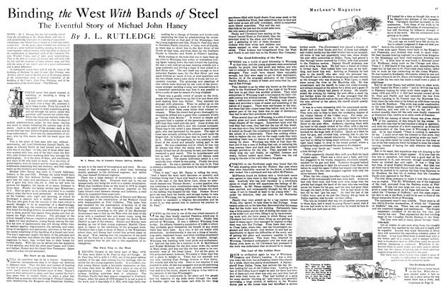 Article Preview: Binding the West With Bands of Steel, APRIL 1st, 1920 1920 | Maclean's