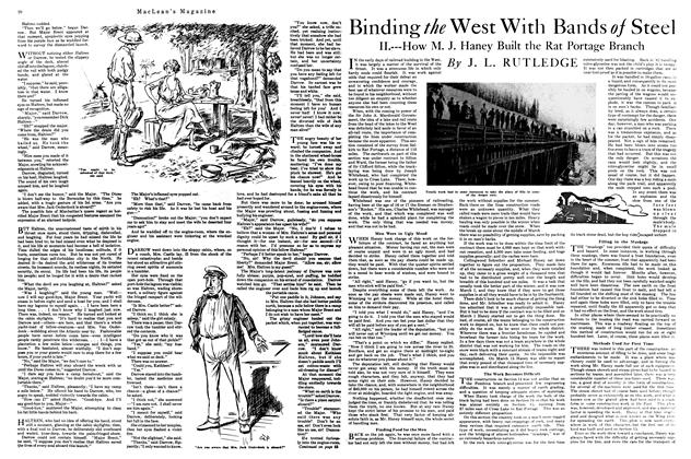 Article Preview: Binding the West With Bands Steel, April 1920 | Maclean's