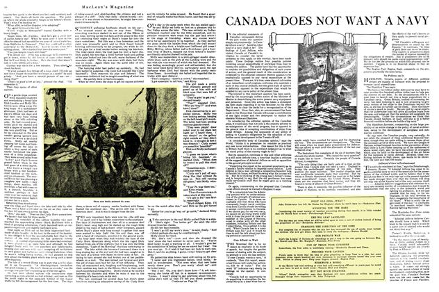 Article Preview: CANADA DOES NOT WANT A NAVY, April 1920 | Maclean's