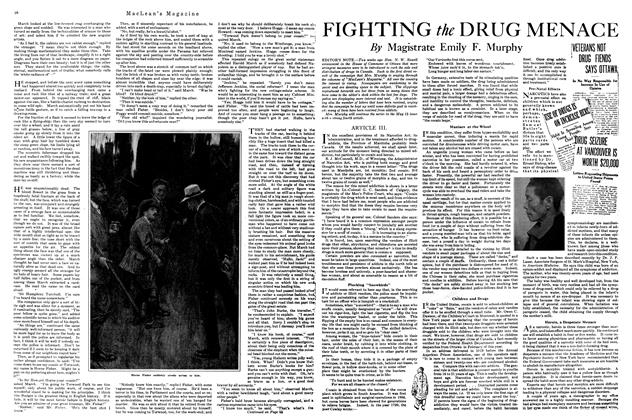 Article Preview: FIGHTING the DRUG MENACE, April 1920 | Maclean's