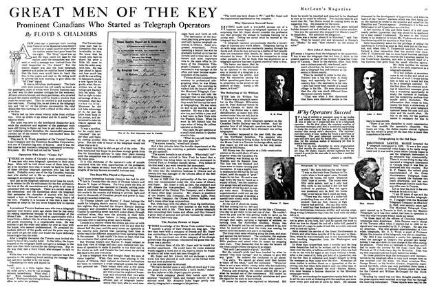 Article Preview: GREAT MEN OF THE KEY, April 1920 | Maclean's