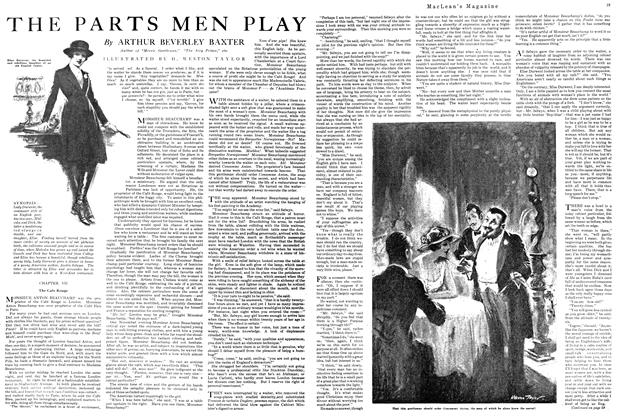 Article Preview: THE PARTS MEN PLAY, MAY 1ST 1920 1920 | Maclean's