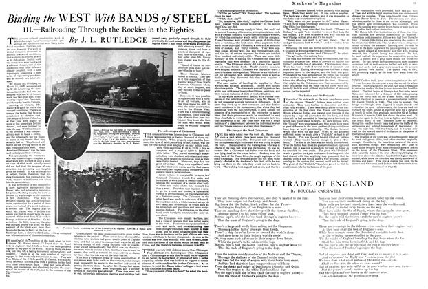 Article Preview: Binding the WEST With BANDS of STEEL, MAY 1ST 1920 1920 | Maclean's