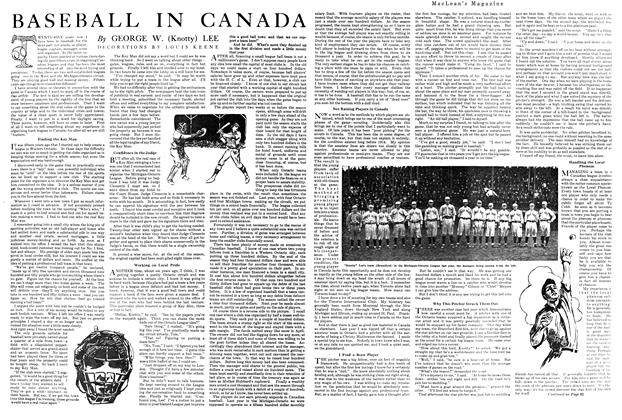 Article Preview: BASEBALL IN CANADA, MAY 1ST 1920 1920 | Maclean's