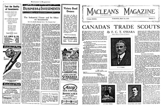 Article Preview: The Industrial Unrest and Its Effect on Investments, May 1920 | Maclean's