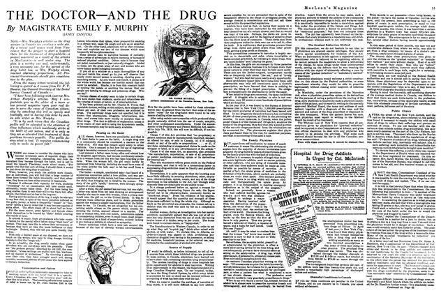 Article Preview: THE DOCTOR—AND THE DRUG, May 1920 | Maclean's
