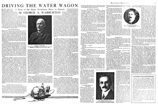 Article Preview: DRIVING THE WATER WAGON, August 1920 | Maclean's