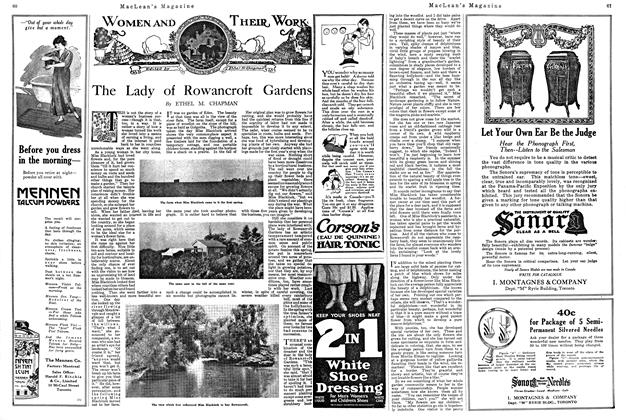 Article Preview: The Lady of Rowancroft Gardens, August 1920 | Maclean's