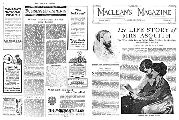 Article Preview: The LIFE STORY of MRS. ASQUITH, August 1920 | Maclean's