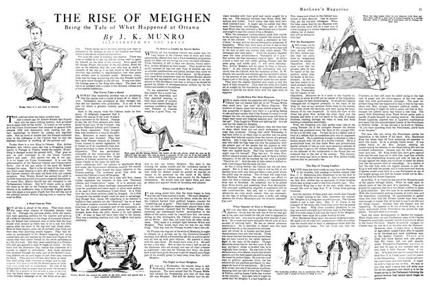 Article Preview: THE RISE OF MEIGHEN, August 1920 | Maclean's